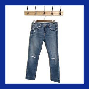 RAG & BONE Dre Capri Levee Distressed Jeans 26
